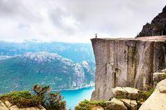 "The Pulpit Rock aka ""Preachers Rock"", Norway"