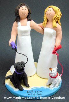 Lesbian biker cake topper