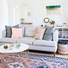 A bohemian California living room via @ruemagazine #instacurated #curatedlivingroom