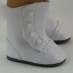 "Old Fashioned White Boots. Fits 18"" Dolls like American Girl® (Toy) http://www.amazon.com/dp/B0044GJXI6/?tag=httpzachlagco-20 B0044GJXI6"