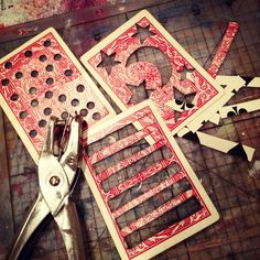 Art Journal Inspiration: How-to: Stencils: Bare Branch Blooming: Make Your Own Stencils from Playing Cards