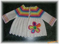 Örgü bebek yelek, hırka ve süveter modelleri-8 Canim Anne  http://www.canimanne.com/derya-baykal-sacorgulu-bebek-hirka-anlatimi.html