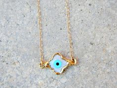 Eye Evil Clover Necklace