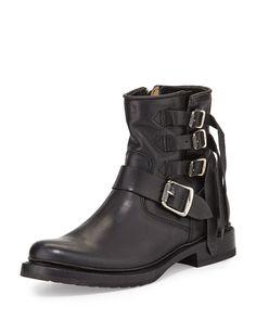 Veronica Multi-Strap Ankle Boot, Black, Women's, Size: 40B/10B - Frye