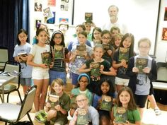 Author Tony Abbott visited with Thalia Book Club Camp at Symphony Space in NYC yesterday to talk about writing, codes, ciphers, and The Forbidden Stone, the first book in his new series, The Copernicus Legacy. #middlegrade #kidlit @tonyabbottbooks
