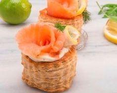 Mini vols-au-vent aux fruits de mers (facile, rapide) - Une recette CuisineAZ