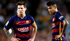 Manchester United are planning a huge £350million swoop for Barcelona Lionel Messi and Neymar