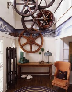 Thom Filicia. WOW. I would LOVE to know where he obtained and how they were hung