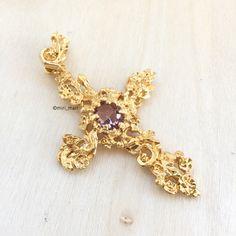 Vintage CHRISTIAN LACROIX Cross Pendant Christian Lacroix, Cross Pendant, Gems, Brooch, Jewellery, Rings, Accessories, Beautiful, Vintage