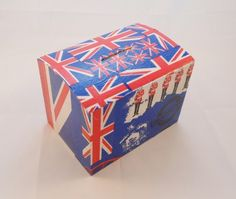 Jubilee Themed Union Jack Wooden Money Box £3.50