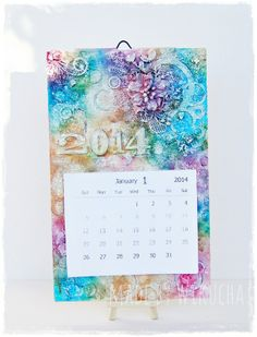 mixed media calendar for 2014