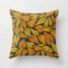 Autumn Night Throw Pillow by Pom Graphic Design  - $20.00 #leafs #case #autumn #summer #nature #pillow #decor #throwpillow #home