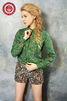 Women's 100% Cotton Royal Palace Style Green Skirts Blouses