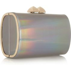 Jimmy Choo Charm Holographic Patent-Leather Clutch