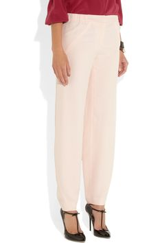 Fendi Brushed-satin pajama-style pants