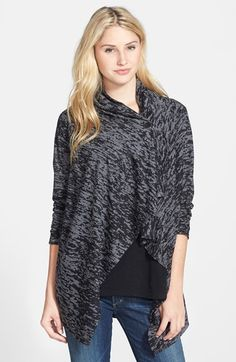 Bobeau One-Button Fleece Cardigan available at #Nordstrom