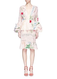 Johanna Ortiz Vittoria Embellished Broderie Anglaise Cotton Dress In Cotton Eyelet Floral Sheath Dress, Pink Floral Dress, Lace Dress, Sheath Dresses, Best Wedding Guest Dresses, Eyelet Lace, Embellished Dress, Embroidery Dress, Cotton Dresses