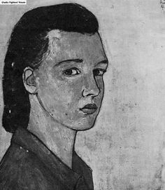 'Self-portrait'. A painting by Charlotte Salomon. The picture is the courtesy of Ghetto Fighters' House.