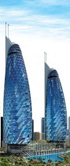 Park Towers at DIFC, Dubai, UAE by Gensler Architects :: 46 floors, height 180m