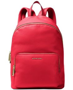 5097c069323b Michael Kors Wythe Bright Red Leather Backpack. Get one of the hottest  styles of the