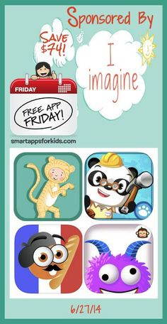 Free App Friday June 27 - $74 worth of apps have gone FREE! http://www.smartappsforkids.com/2014/06/free-app-friday-june-27-.html