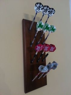 Custom Made Wooden Dart Holder Display Rack Walnut | eBay