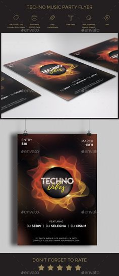 Buy Techno Music Party Flyer by EliteVision on GraphicRiver. +Description Are you looking to promote a music event or festival? This flyer is perfect to advertise your club's par. Techno Music, Music Music, Party Flyer, Party Party, Music Flyer, Free Flyer Templates, Dj Edm, Flyer Layout, Music Party