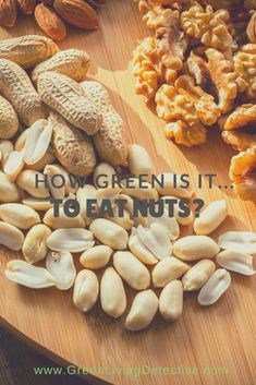 The most popular nuts - almonds, pistachios, walnuts, cashews and pecans - are some of the most water-intensive crops grown today. And inevitably, they are grown in some of the country's most water-scarce places. So, how can we choose nuts as a sustainable protein source? Follow the link to find out! >>>> #protein #sustainablefood #nuts #healthy #healthyfood #healthysnack #sustainablefuture Sustainable Food, Sustainable Living, Pistachios, Almonds, Homemade Trail Mix, Peanut Butter Jar, Healthy Snacks, Healthy Recipes, Green Products