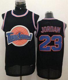 Bulls #23 Michael Jordan Black Tune Squad Stitched NBA Jersey