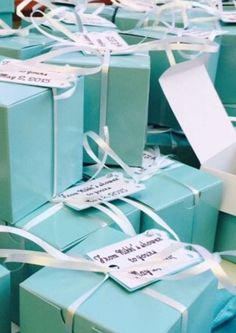Favor boxes for bath bombs. Perfect shade of tiffany blue boxes purchased from Etsy shop  AnnaSeeSupplies. Tag made with Circut Explore: From Nikki's shower to yours.