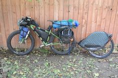 Fat Bike and Trailer Set up for Bikepacking