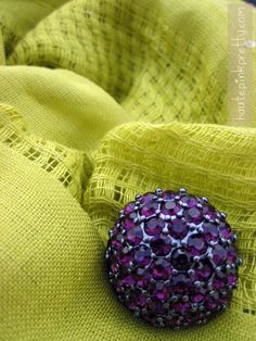 Chartreuse meets Aubergine ... also my favorite colors!