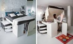 30 Small Bedroom Ideas Small in Budget Big in Style - Space designer Build A Murphy Bed, Murphy Bed Ikea, Murphy Bed Plans, Hidden Bed, Space Saving Furniture, Furniture Ideas, Cozy Nook, Cube Storage, Floor Space