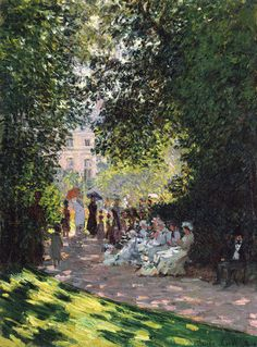 Claude Monet (French, 1840–1926) The Parc Monceau, 1878.
