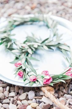 Intimate Meganisi Vow Renewal with Olive Details - Lefkas Weddings - olive and rose wedding crowns stefana at beach ceremony