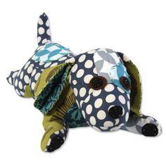 BaliZen Collection : Puppy Patchwork Indigo Blues Fair trade luxury