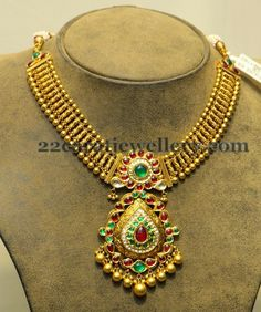 Jewellery Designs: Antique Set with Classic Locket