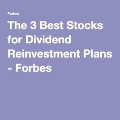 best stocks for dividend reinvestment plans