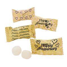 Gold Anniversary Buttermints - OrientalTrading.com