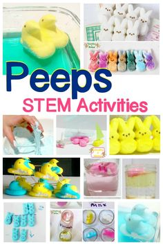 Peeps STEM activities: You may not love eating Peeps, but they are soon to become one of your most favorite educational tools! Peeps science activities will delight all kids! Peeps Science Experiment, Kid Experiments, Stem Science, Science For Kids, Science Tools, Science Gifts, Science Centers, Science Party, Science Ideas