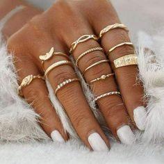Punk Jewelry, Jewelry Party, Jewelry Gifts, Jewellery Rings, Costume Jewelry, Gold Jewelry, Trendy Jewelry, Charm Jewelry, Pagoda Jewelry