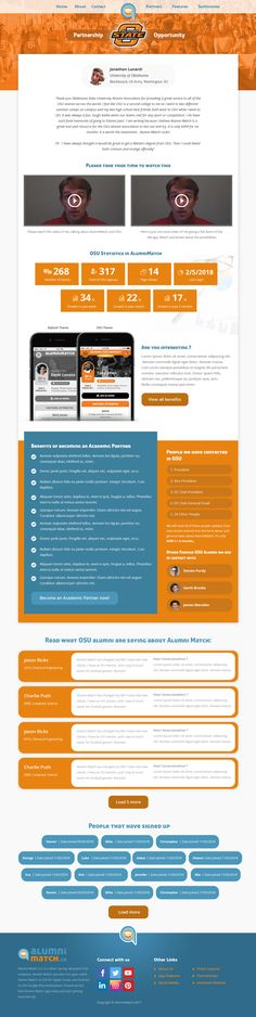 AlumniMatch - Campus Sales page for Oklahoma State University