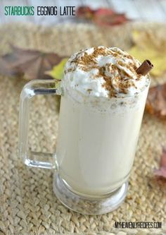 Egg Nog Latte Recipe - This Egg Nog Latte Recipe is a Starbucks Copycat. Enjoy on a quiet Sunday afternoon or while reading a book along side a fire.