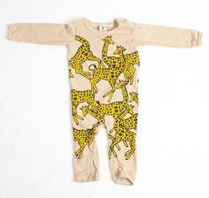 Giraffe Longsleve Onesie by Little Pilgrim! | Bohem