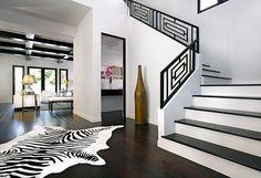 Appartement design déco noir et blanc