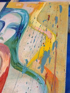картины буквально светятся изнутри. Панно выполнено в стиле авангардизм, с чертами экпрессионизма и сюрреализма.