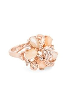 Coral Blushing Bouquet Ring <3