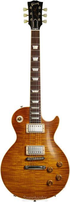 Solidbody Electric Guitar with Mahogany Body, Maple Top, Mahogany Neck, Rosewood Fretboard, 2 x Humbuckers, and Hard Case - Lemonburst