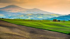 Lonely farmhouse in Val D'Orcia