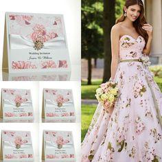 Summer rose wedding invitations.
